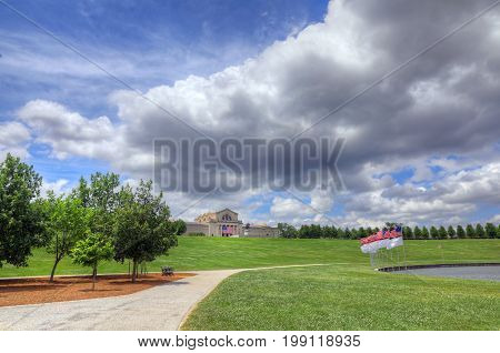 St. Louis Missouri - June 22 2017 - The St. Louis Art Museum in Forest Park St. Louis Missouri.