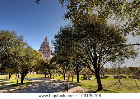 The Texas State Capitol in Austin, Texas