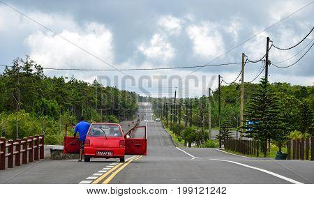 Mountain Road In Le Morne, Mauritius