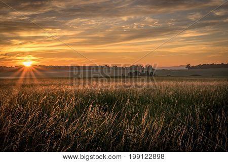 Start of new day sunrise at Stonehenge