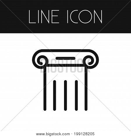 Column Vector Element Can Be Used For Column, Pillar, Marble Design Concept.  Isolated Pillar Outline.