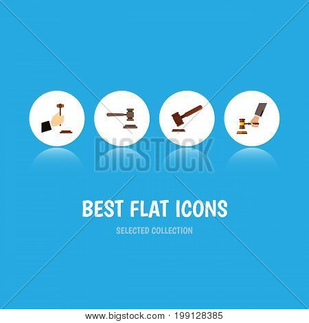 Flat Icon Lawyer Set Of Justice, Crime, Law And Other Vector Objects