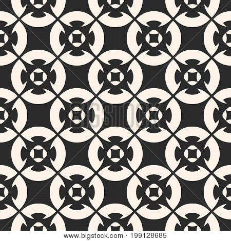 Ornamental seamless pattern, vector geometric floral texture, monochrome ornament delicate lattice. Abstract background in oriental style. Repeat design for decor, tiling, fabric, cloth, cover, web.