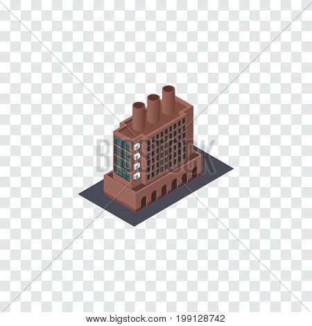 Industry Vector Element Can Be Used For Factory, Firm, Industry Design Concept.  Isolated Factory Isometric.