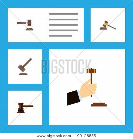 Flat Icon Lawyer Set Of Legal, Tribunal, Court And Other Vector Objects