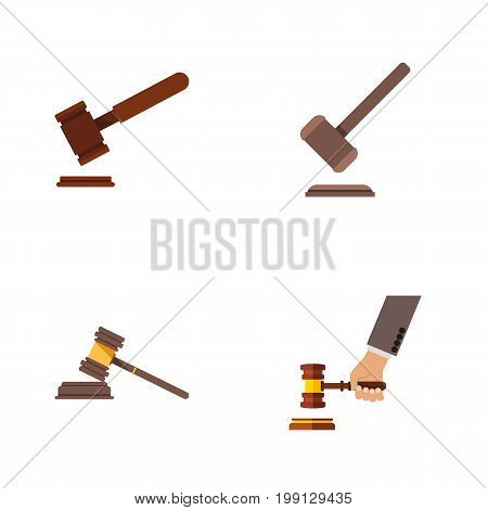 Flat Icon Court Set Of Tribunal, Justice, Court And Other Vector Objects