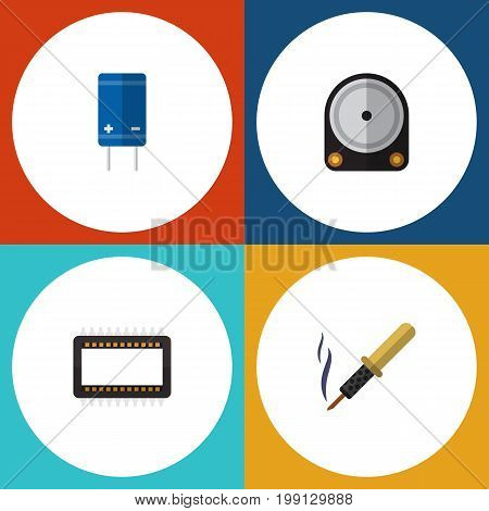 Flat Icon Electronics Set Of Hdd, Mainframe, Repair And Other Vector Objects
