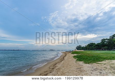 View Of The Sea From East Coast Park, Singapore