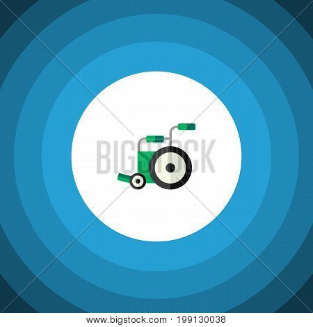 Equipment Vector Element Can Be Used For Equipment, Wheelchair, Disabled Design Concept.  Isolated Wheelchair Flat Icon.