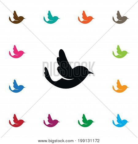 Swallow Vector Element Can Be Used For Woodpecker, Bird, Sparrow Design Concept.  Isolated Bird Icon.