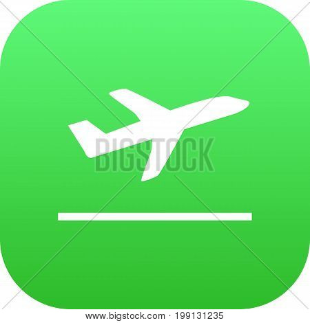 Vector Leaving Element In Trendy Style.  Isolated Departures Icon Symbol On Clean Background.