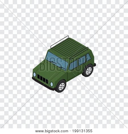 Armored  Vector Element Can Be Used For Suv, Armored, Car Design Concept.  Isolated Suv Isometric.