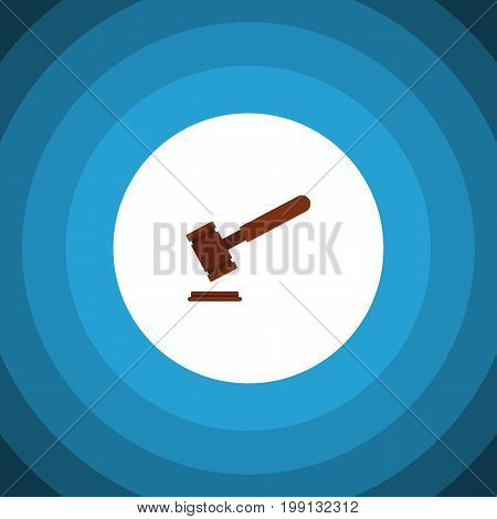 Justice Vector Element Can Be Used For Tribunal, Justice, Court Design Concept.  Isolated Tribunal Flat Icon.