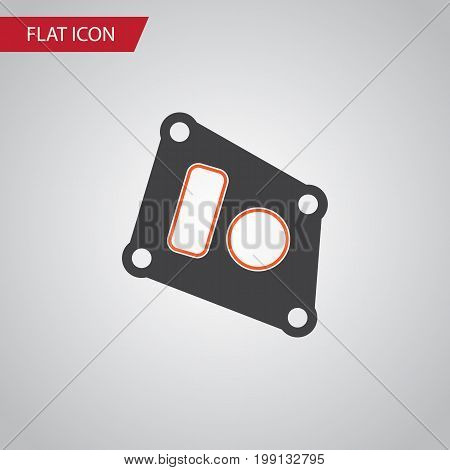 Gasket Vector Element Can Be Used For Gasket, Car, Packing Design Concept.  Isolated Packing Flat Icon.