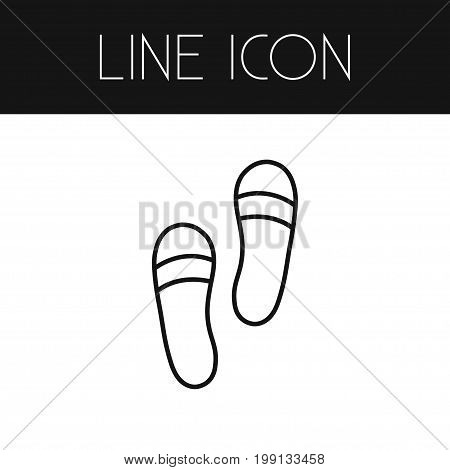 Shoes Vector Element Can Be Used For Shoes, Sandals, Footwear Design Concept.  Isolated Sandals Outline.