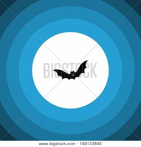 Superstition Vector Element Can Be Used For Superstition, Bat, Creepy Design Concept.  Isolated Bat Flat Icon.