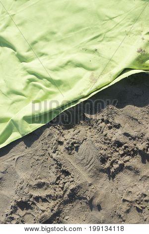 Towel On Beach Holiday