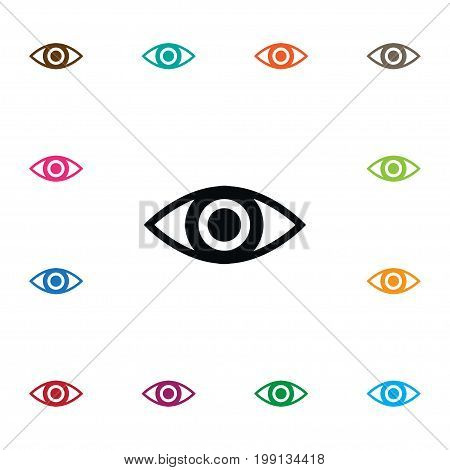 Eye Vector Element Can Be Used For Eye, Look, View Design Concept.  Isolated Look Icon.