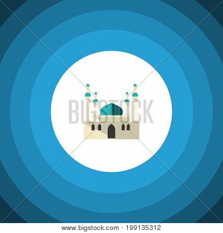 Architecture Vector Element Can Be Used For Mohammedanism, Mosque, Architecture Design Concept.  Isolated Mohammedanism Flat Icon.