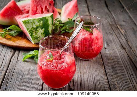 Watermelon Granite Ice Cream