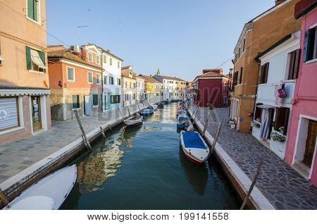 Streets Of Burano, Venice Landmark