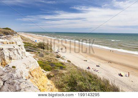 Playa del Asperillo beach in Matalascanas. Donana Natural Park Huelva province Costa de la Luz Andalusia Spain