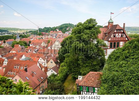 View On The Center Of Tubingen, Baden-wurttemberg, Germany