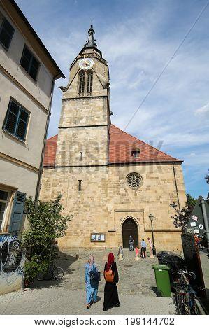 Stiftskirche In Tubingen, Baden-wurttemberg, Germany