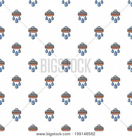 Shower head pattern in cartoon style. Seamless pattern vector illustration