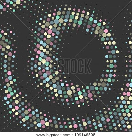 Abstract Colorful Doted  Background