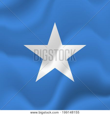 Somalia waving flag. Waving flag. Vector illustration.