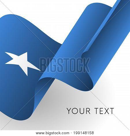 Somalia flag. Patriotic design. Waving flag. Vector illustration.
