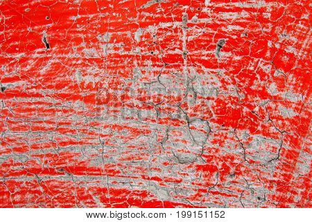 The red wooden surface texture a background