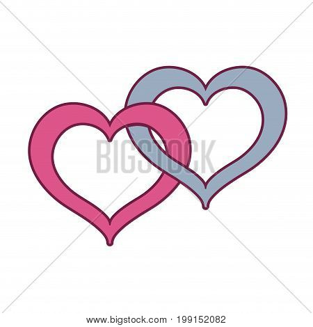 nice heart symbol to love and passion vector illustration