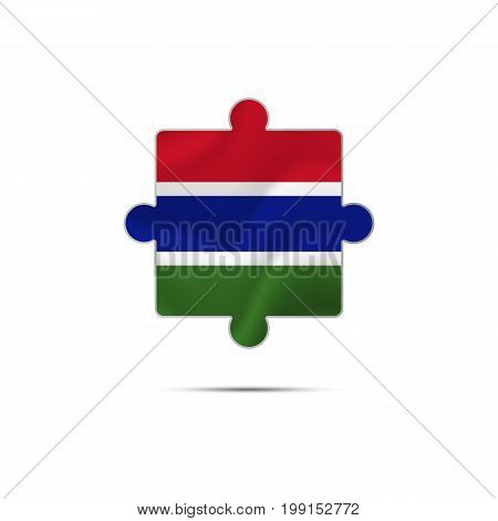 Gambia waving flag. Waving flag. Vector illustration.