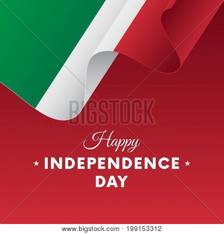 Banner or poster of Italy independence day celebration. Waving flag. Vector illustration.