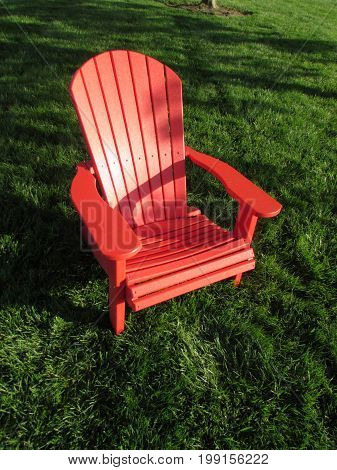 A  Red  Lawn  Chair  in  Manassas,  Virginia