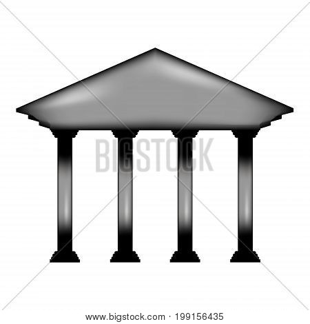 Bank sign icon on white background. Vector illustration.