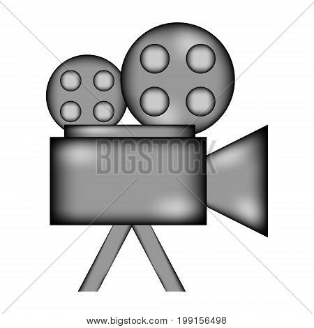 Camera sign icon on white background. Vector illustration.