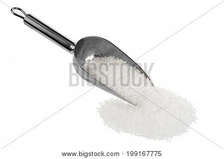 Shovel of Sea Salt Isolated