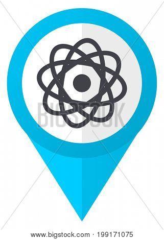 Atom blue pointer icon