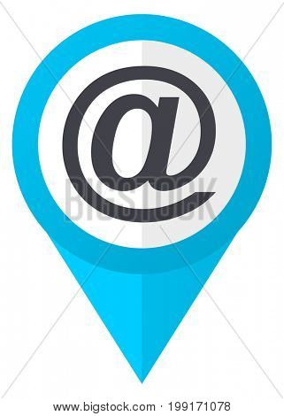 Email blue pointer icon