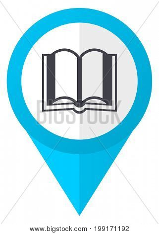 Book blue pointer icon