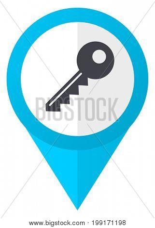 Key blue pointer icon