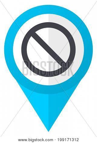Access denied blue pointer icon