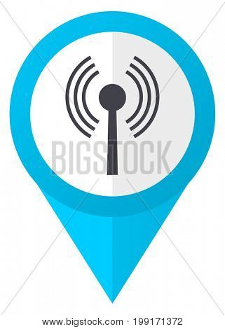 Wifi blue pointer icon
