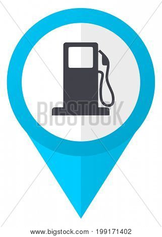 Petrol blue pointer icon