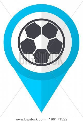 Soccer blue pointer icon