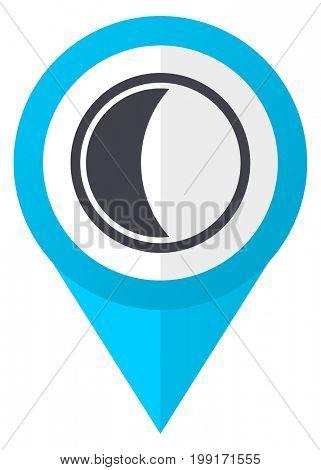 Moon blue pointer icon