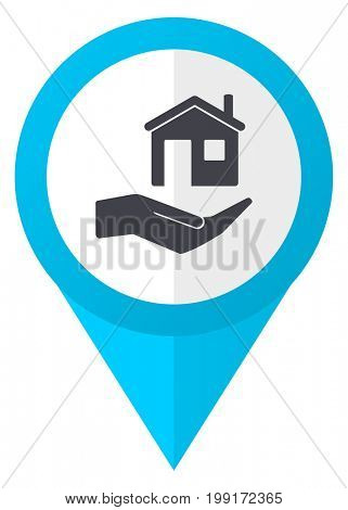House care blue pointer icon